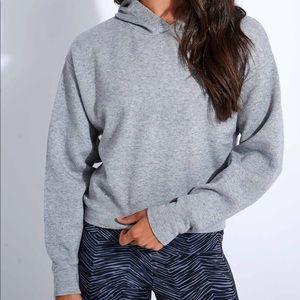 Onzie Cropped Hoodie - Grey Size: M/L